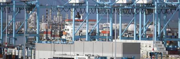 Maersk terminal in Rotterdam crippled