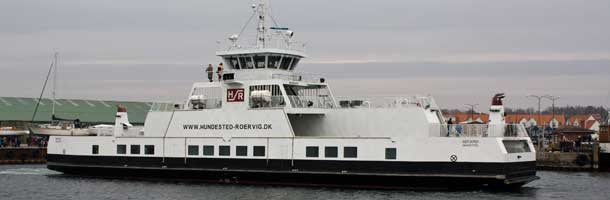 New Hundested - Rørvig ferry in port