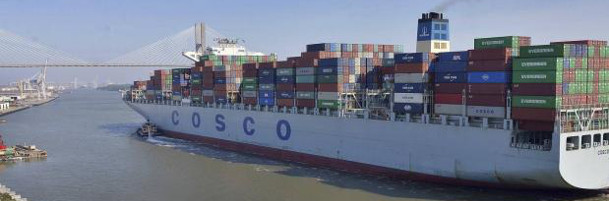 Cosco beats Maersk Line in container volume