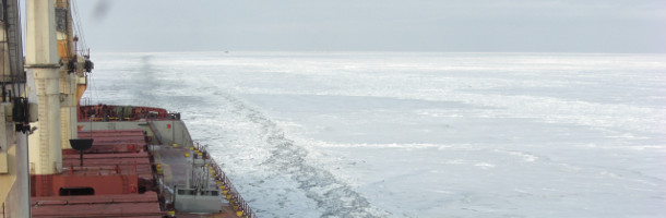 Danish bulker collides with icebreaker