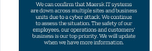 Maersk hit by seriously hacker-attack