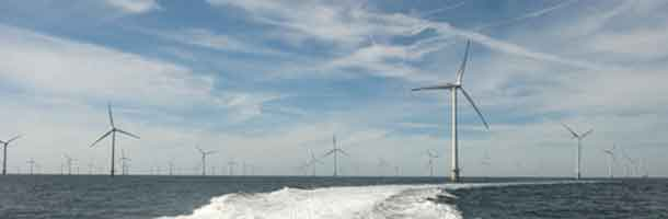 Nordsee One two turbines from completion
