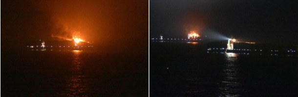 Extreme fire on Maersk ship: four missing