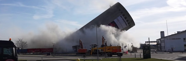 Blasting a concrete silo goes wrong