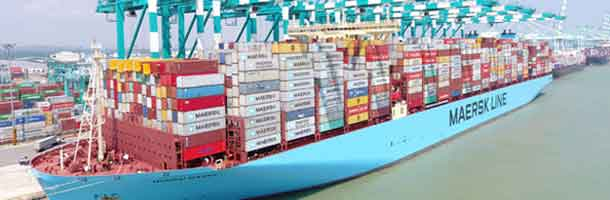 Maersk containership sets new world record