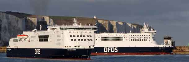 DFDS ensures essential transport to the UK